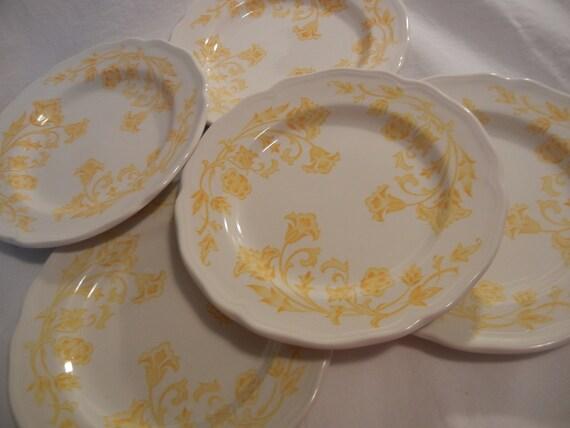 Vintage J&G Meakin Royal Staffordshire Windsong Dessert Plates-  Set of 5