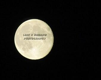 8 x 10 Halloween Full Moon Photograph