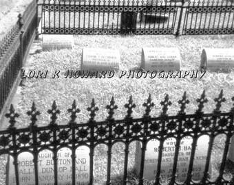 Cemetery Gravestones Photograph
