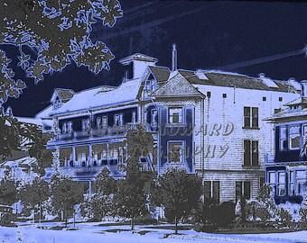 8 x 10 El Riposo Sanatorium Photograph 2