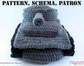 PATTERN for Tiger 1 Tank  - Panzer Crocheted Slippers