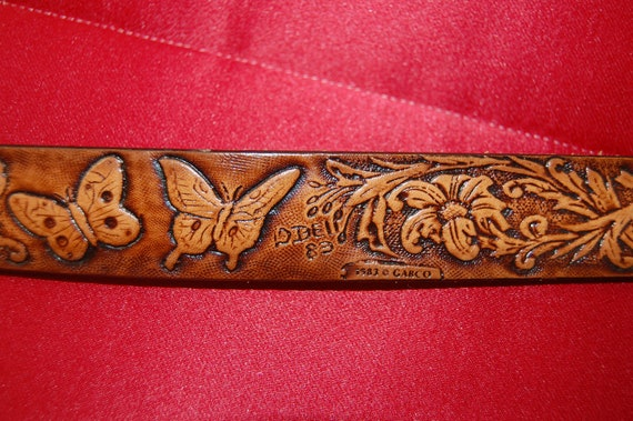Vintage Leather Belt Vintage Leather Belt / Hand