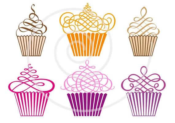 Cute Cupcake Logos Cute Cupcakes Digital Clip