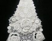 Vintage Three Layer Lace Jabot Neck Embellishment