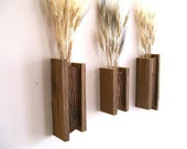 Set of 3 Rustic / Reclaimed / Barn Wood Wall Vase / Flower Sconces - TheBarnYardShop