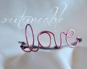 Dainty love bracelet.