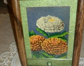 Small Framed Vintage Floral Seed Packet