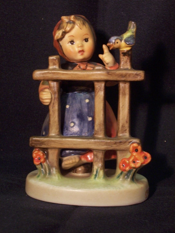 vintage hummel figurine signs of spring girl standing by