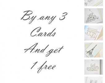 French Greeting Cards Buy any 3 Cards and get 1 Free