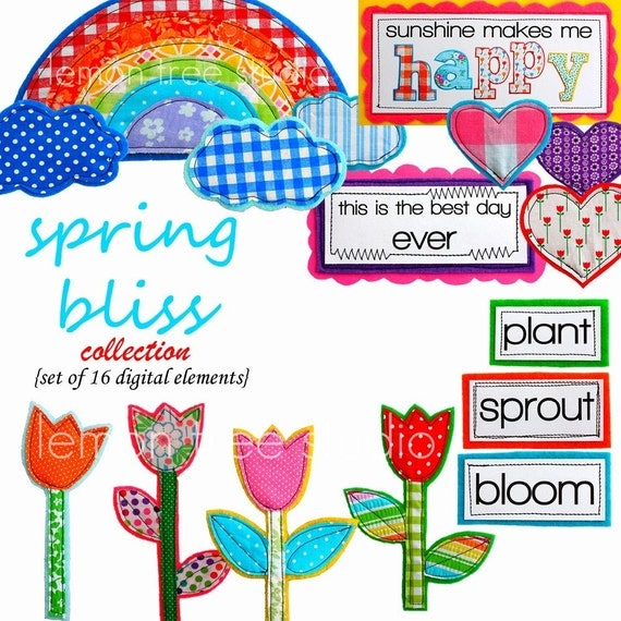 Digital Clip Art -- Spring Bliss Collection (Instant Download)