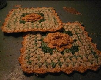 Duo Crochet Pot Holders