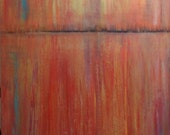 """Original Large Abstract Painting, Contemporary fine art, by artist J P Looney, Modern art """"Horizons"""""""