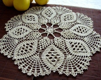 Round crochet doily...Night table cover, bed side table cover,