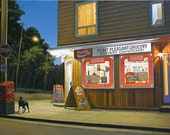 "Point Pleasant Grocery, 5"" H x 10"" W, Offset Print by Paul Hannon, FREE SHIPPING Canada & US"