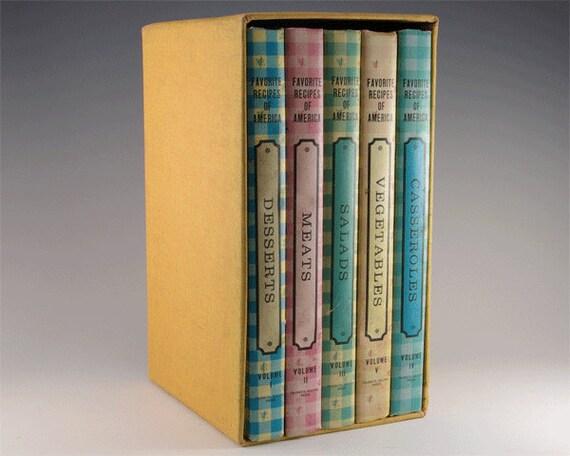 Favorite Recipes of America- Five Volume Cookbook Set -1968
