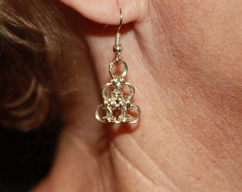Triangle Chain-mail Earrings