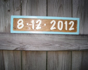Wedding Sign - Personalized Wedding Date Sign - Routed