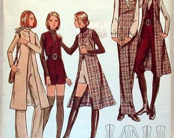 Vintage Butterick Pattern 6345 Sz. 16 NOS Misses Jumpsuit and Coat