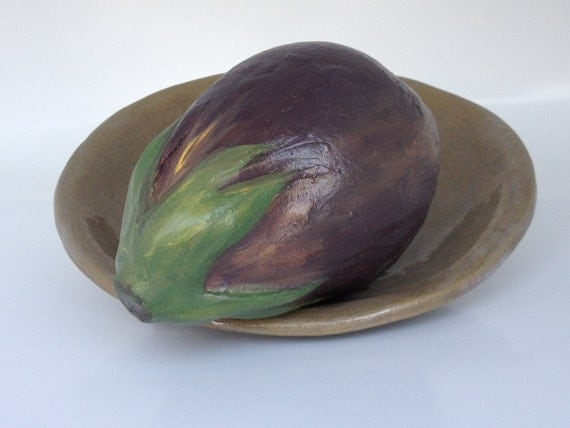 eggplant kitchen accessories ceramic eggplant decoration aubergine decor by myinsight 3534