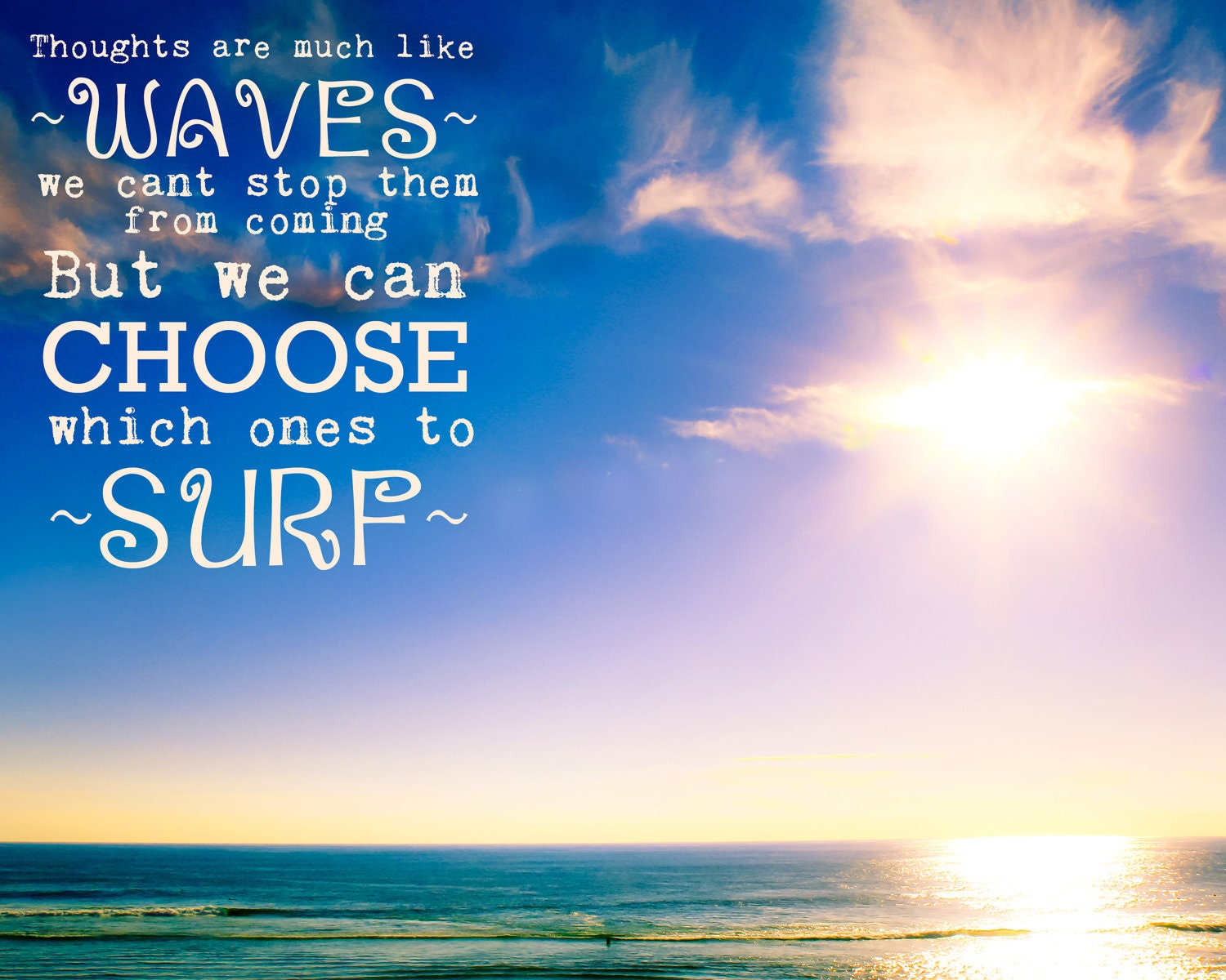 Quote About The Sea: Items Similar To Inspirational Quote, Photo, 8x10
