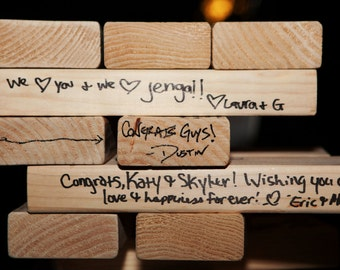 "Wedding Guest Book Handmade from new SOLID wood! Tumbling Timbers ""Smaller"" Set"