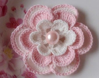 Larger Crochet Flower in 3 inches YH - 027-01