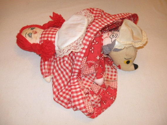 Little Red Riding Hood Topsy Turvy Doll Soft Sculpture