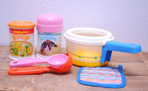 Vintage fisher price play food lot alphabet soup ice cream - Cuisine bilingue fisher price ...