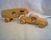 Reclaimed Pine Truck and 5th Wheel Camper finished in Linseed Oil