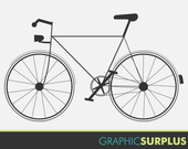 Clip Art Bike Bicycle Graphic Silhouette Commercial Use Item: CA2