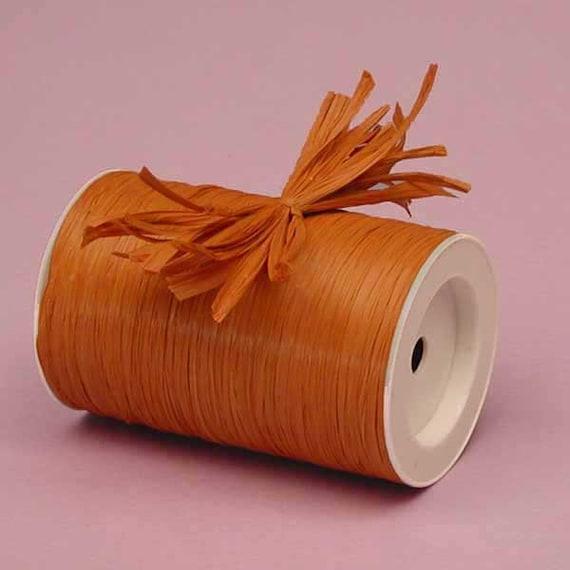 Terra Cotta Matte Raffia Ribbon - 10 Yards - Many Colors Available