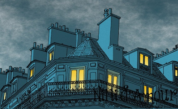 Items Similar To Paris Architecture Building Roof Light Night Street Download