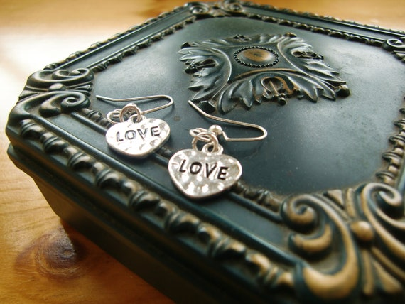 "Heart ""Love"" & ""Amor"" Earrings"