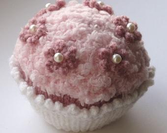 Many Flowered Cupcake Knitting Pattern