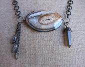 SALE! Dramatic Geode Slice Necklace