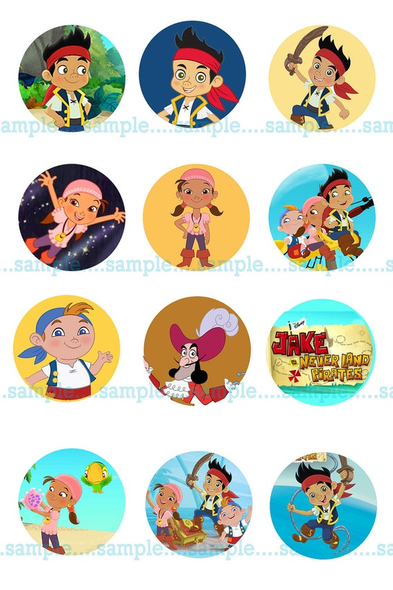 INSTANT Download Jake and the Neverland Pirates Bottle Caps