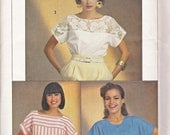 Simplicity 6806 Vintage 80s Easy Summer Pullover Tunic Blouse Pattern, UNCUT