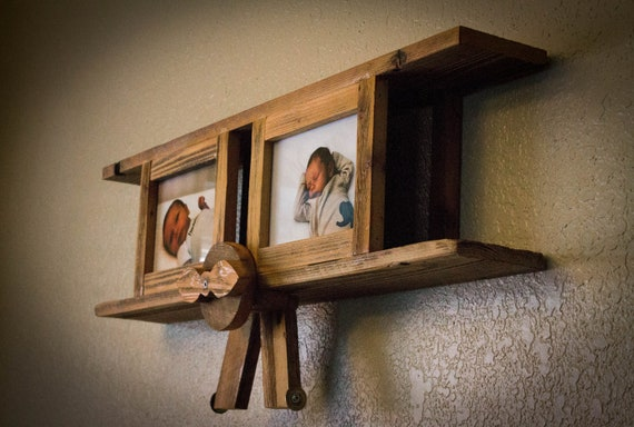 Airplane with Picture Frames from Reclaimed Wood