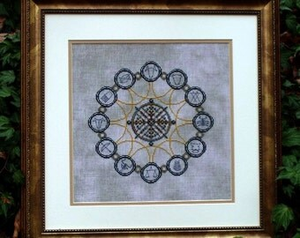 Western Zodiac! Counted Cross Stitch Chart. Astrology. Astrological Signs. Design. X stitch. Decor. DIY. Direct Checkout.