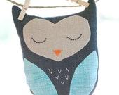 Sleeping Owl stuffed toy or pillow
