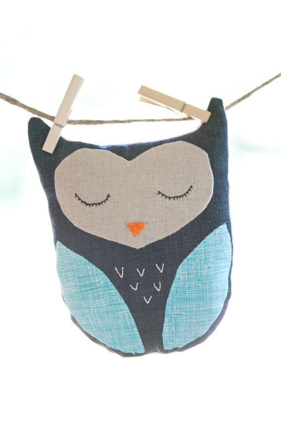 Sleeping Owl stuffed toy or pillow
