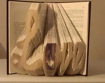 "Folded Book Art ""Love"" - Made to Order"