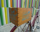 Bicycle Crate Upcycled  from a Armour Roast Beef box