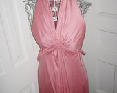 Vintage 1960s Valley of the Dolls pink polyester dress