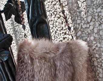 Vintage Brown Fox Handbag