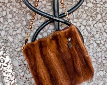 Vintage Turn of the Century Mink Handbag