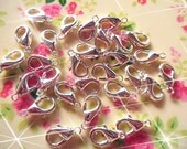 200pcs-12x7mm Lobster clasp silver  lead-free nickel accessories