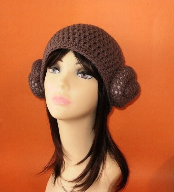 Princess Leia Beanie Hat. (Any Sizes: Newborn to Adult). Please send size.