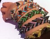 Braided spike friendship bracelets