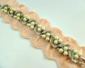 Vintage 80s Lisner Silver Tone Faux Pearls Aurora Borealis Stones